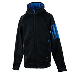 Obermeyer Match Fleece Hoodie Teen Boys Jacket, Stellar Blue, 256