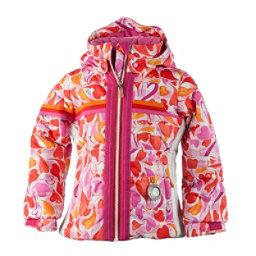 Obermeyer Snowdrop Toddler Girls Ski Jacket, Heart Gingham, 256
