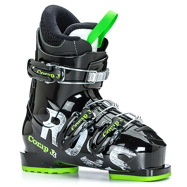 Rossignol Comp J3 Kids Ski Boots, Black-Green, 600