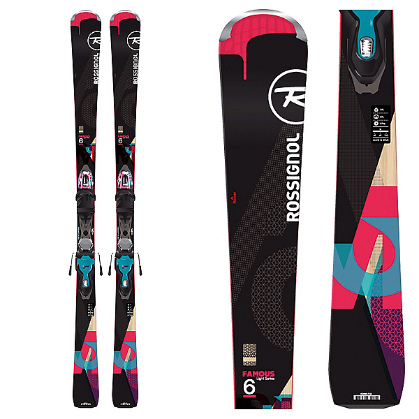 Rossignol Famous 6 Womens Skis with Xpress 11 Bindings 2017, , 600