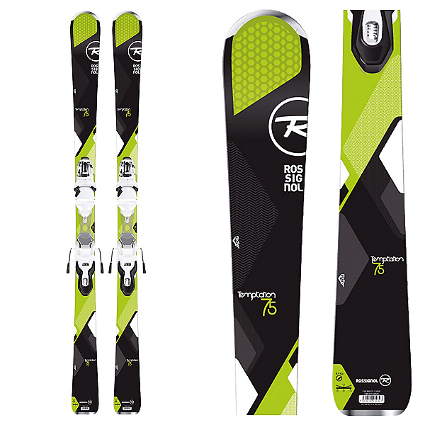 Rossignol Temptation 75 Womens Skis with Xpress 10 Bindings, , 600