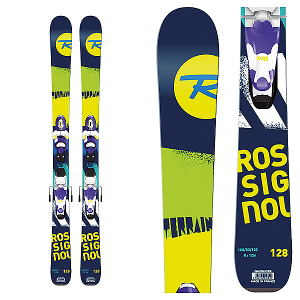 Rossignol Terrain Boy Kids Skis with Xpress 7 Bindings 2017, , 600