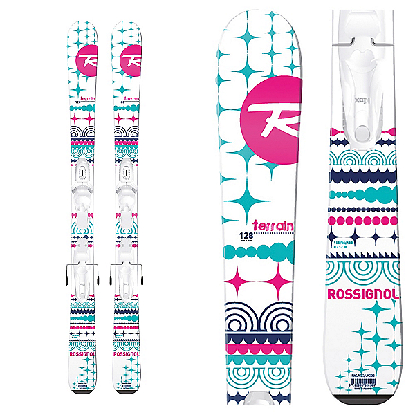 Rossignol Terrain Girl Baby Kids Skis with Kid X 4 Bindings, , 600