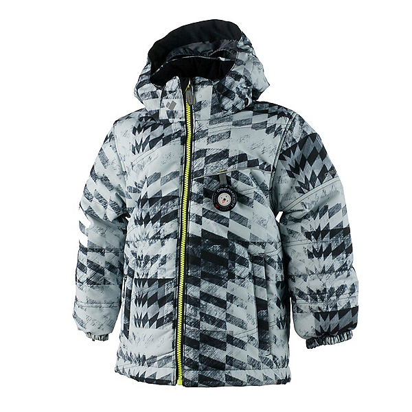 Obermeyer Stealth Toddler Boys Ski Jacket, Grey Coat Of Arms, 600