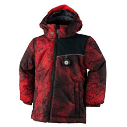 Obermeyer Stealth Toddler Boys Ski Jacket, Red Mesh Print, 256