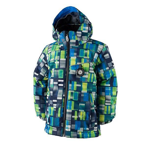 Obermeyer Stealth Toddler Boys Ski Jacket, Moving Squares, 600