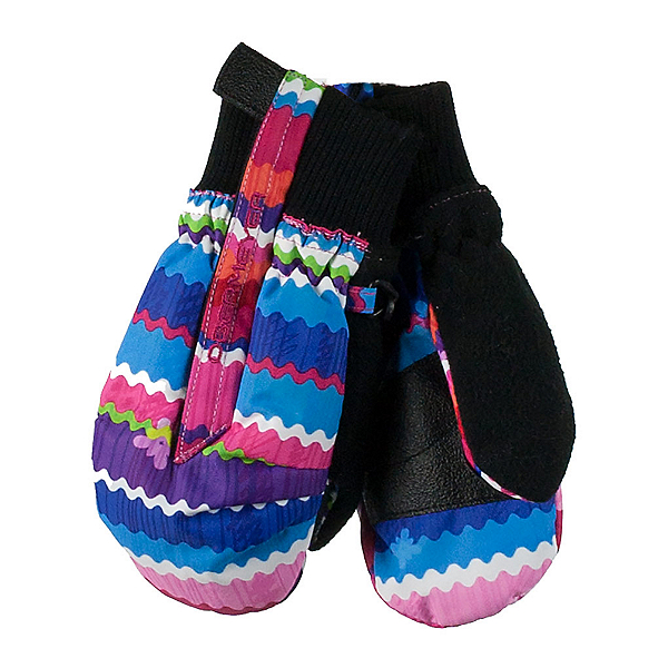 Obermeyer Thumbs Up Print Toddler Girls Mittens, Scribble Stripe, 600