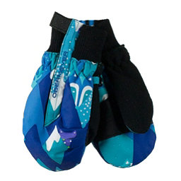 Obermeyer Thumbs Up Print Toddler Girls Mittens, Blue Mountains, 256