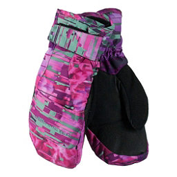 Obermeyer Radiator Girls Mittens 2017, Digi Floral, 256