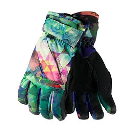 Obermeyer Cornice Girls Gloves, Fractal Floral, 256
