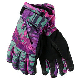 Obermeyer Cornice Girls Gloves 2017, Digi Floral, 256