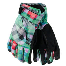 Obermeyer Cornice Girls Gloves 2017, Plaid Haze, 256