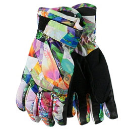Obermeyer Cornice Girls Gloves 2017, Chevron Floral, 256