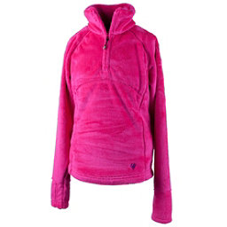 Obermeyer Furry Fleece Top Teen Girls Midlayer, Electric Pink, 256