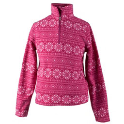 Obermeyer Bomber Pro 100WT Teen Girls Long Underwear Top, Pink Snowflake, 256