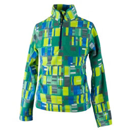 Obermeyer Bomber Pro 100WT Zip-Neck Teen Boys Midlayer, Moving Squares, 256