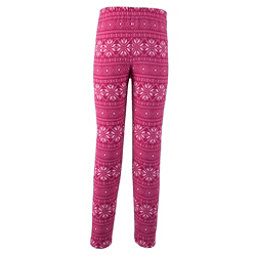Obermeyer First Tracks Pro 100 Teen Girls Long Underwear Bottom, Pink Snowflake, 256