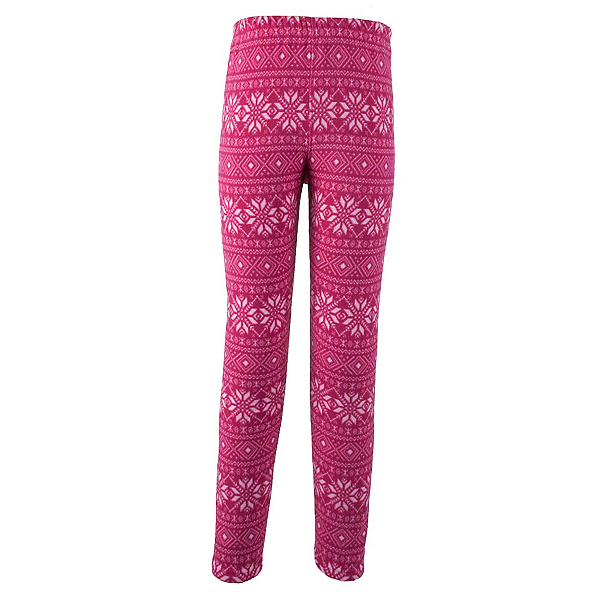 Obermeyer First Tracks Pro 100 Teen Girls Long Underwear Bottom, Pink Snowflake, 600