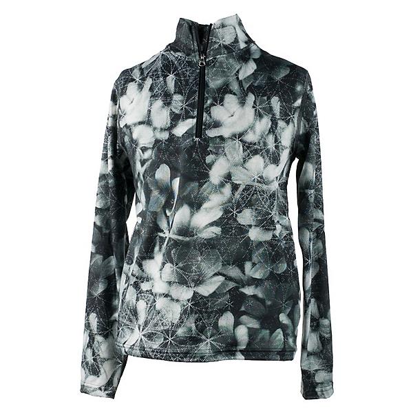 Obermeyer Wildcat Sport 75WT Teen Girls Long Underwear Top, Blackout Floral, 600