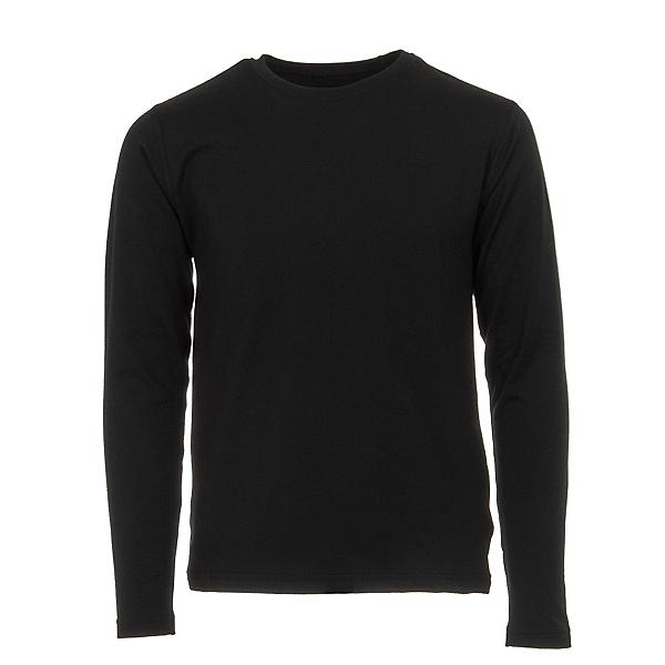 Obermeyer Trestle Sport 75WT Crew Teen Boys Long Underwear Top, Black, 600