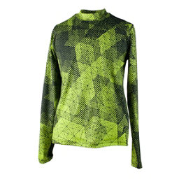 Obermeyer Trestle Sport 75WT Crew Teen Boys Long Underwear Top, Green Mesh Print, 256