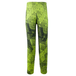 Obermeyer Bearclaw Sport 75WT Tight Teen Boys Long Underwear Bottom, Green Mesh Print, 256