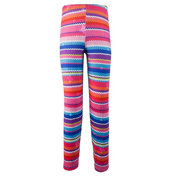 Obermeyer Bearclaw Sport 75 WT Tight Girls Long Underwear Bottom, Scribble Stripe, 600