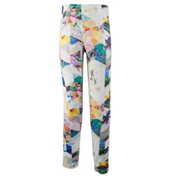 Obermeyer Bearclaw Sport 75 WT Tight Teen Girls Long Underwear Bottom, Chevron Floral, 256