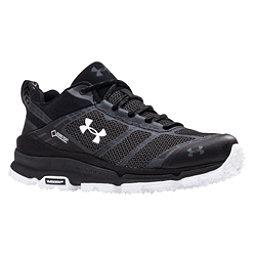 Under Armour Verge Low GTX Womens Shoes, Black-Black-White, 256