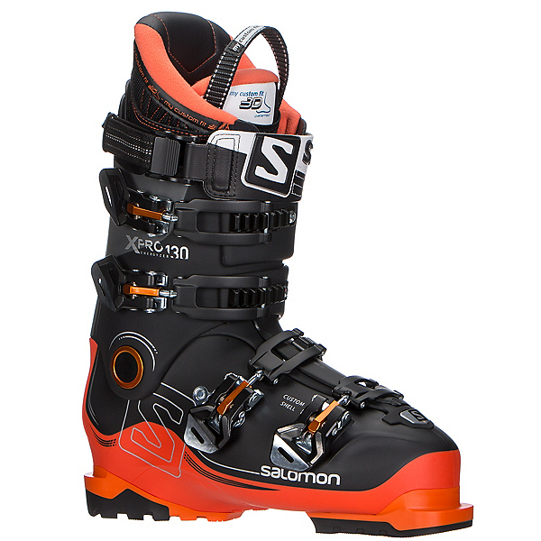 Salomon X-Pro 130 Ski Boots 2018, Black-Orange-Anthracite, 600