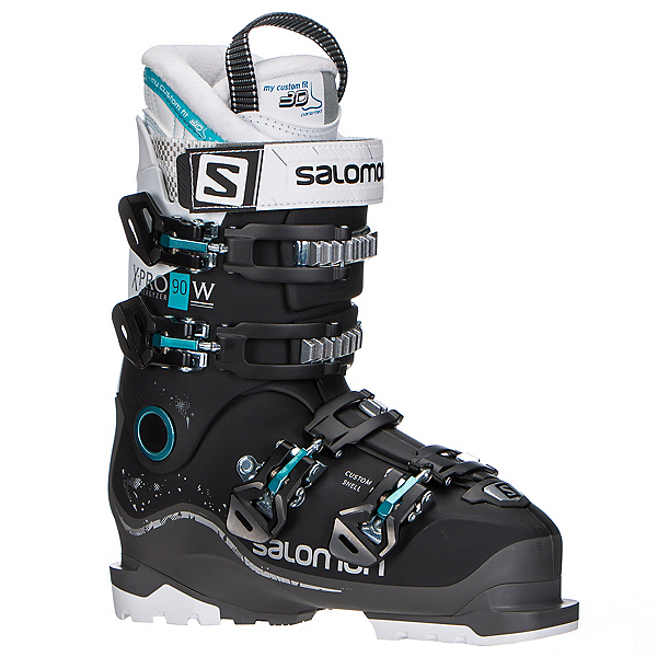 Salomon X-Pro 90 W Womens Ski Boots, Black-Anthracite-White, 600