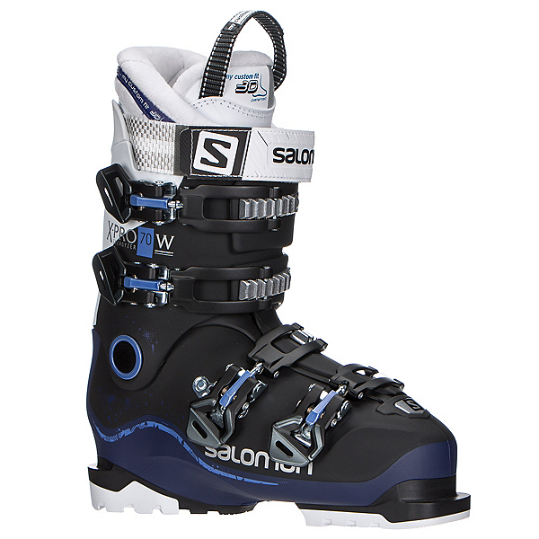 Salomon X-Pro 70 W Womens Ski Boots 2018, Black-Dark Purple-White, 600