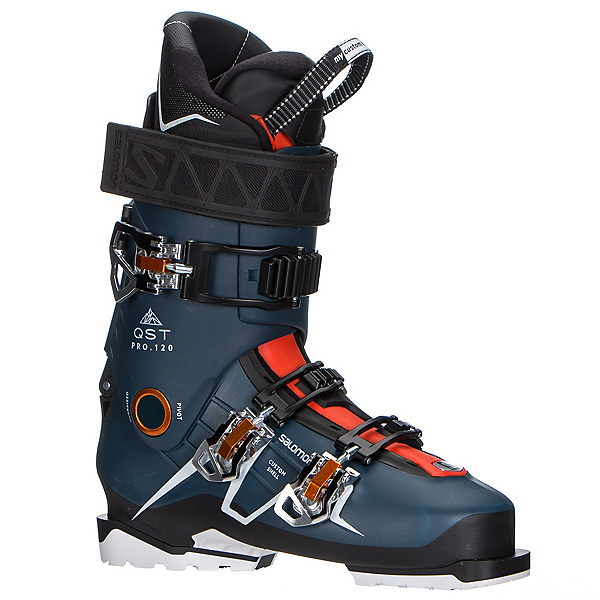 Salomon QST Pro 120 Ski Boots, Petrol Blue-Black-Orange, 600