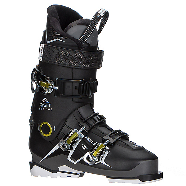 Salomon QST Pro 100 Ski Boots 2018, Black-Anthracite-Acide Green, 600