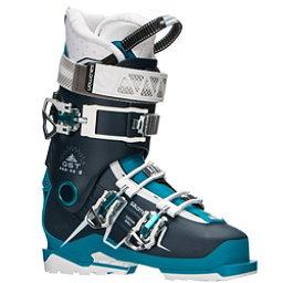 Salomon QST Pro 90 W Womens Ski Boots 2018, Petrol Blue-Blue-Aqua, 256