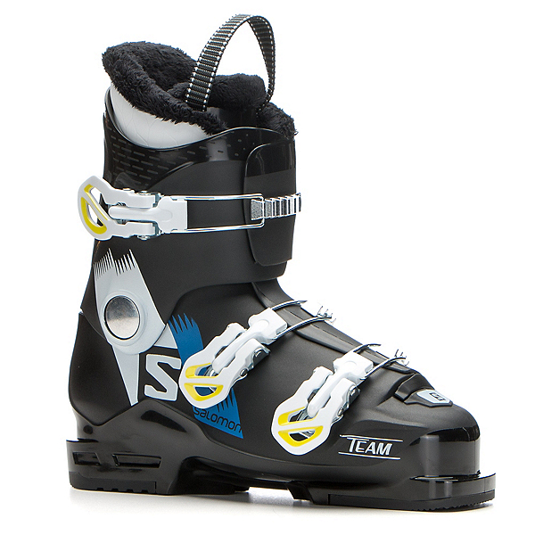 Salomon Team T3 Kids Ski Boots 2018, Black-White-Acide Green, 600