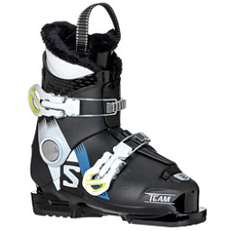 Salomon Team T2 Kids Ski Boots 2018, Black-White-Acide Green, 256