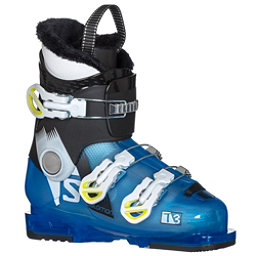 Salomon T3 RT Kids Ski Boots 2018, Indigo Blue Translucent-Black, 256