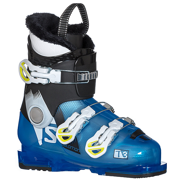 Salomon T3 RT Kids Ski Boots 2018, Indigo Blue Translucent-Black, 600