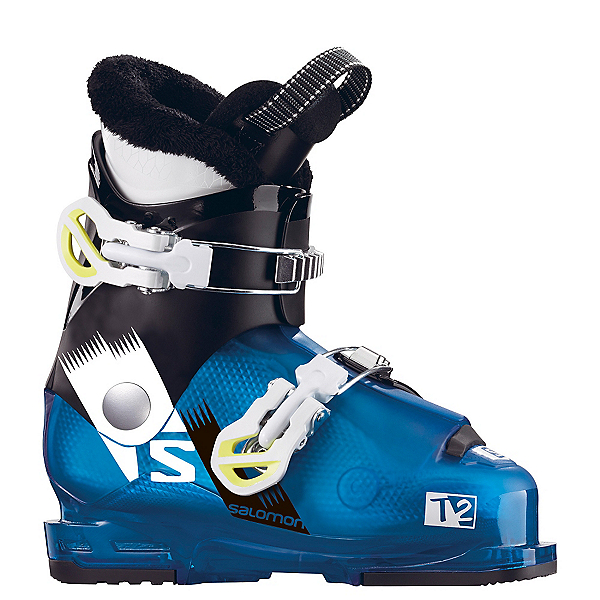 Salomon Team 2 RT Kids Ski Boots 2018, Indigo Blue Translucent-Black, 600