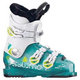 Salomon T3 RT Girly Girls Ski Boots 2018, Light Green Translucent-White, 256