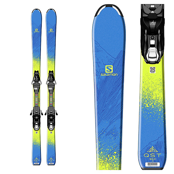 Salomon QST Max Jr. Kids Skis with EZY 7 Bindings, , 600