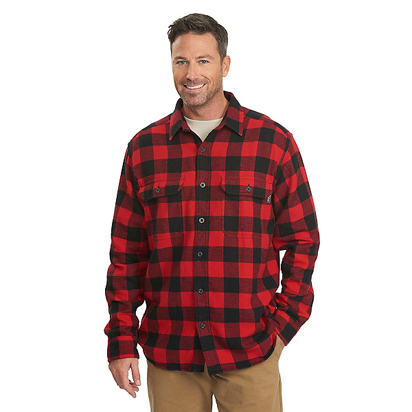 Woolrich Oxbow Bend Flannel Flannel Shirt, Old Red Buffalo, 600