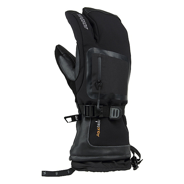 Gordini Fuse Three Finger Gloves, Black, 600