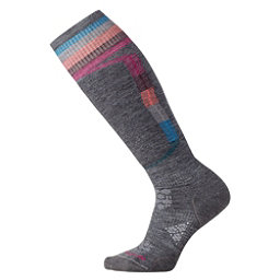 SmartWool PhD Ski Light Elite Womens Ski Socks, Medium Gray, 256