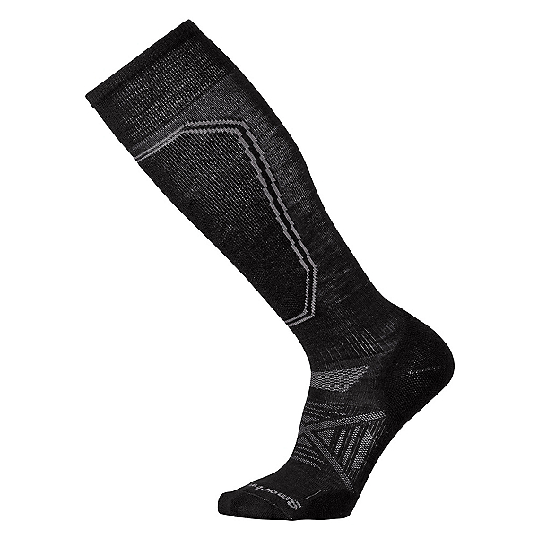 SmartWool PhD Ski Light Ski Socks, Black, 600
