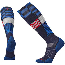 SmartWool PhD Ski Light Elite Pattern Ski Socks, Navy, 256