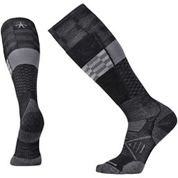 SmartWool PhD Ski Light Elite Pattern Ski Socks, Black, 256