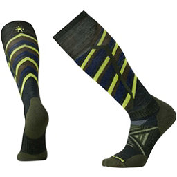 SmartWool PhD Ski Medium Pattern Ski Socks, Forest, 256