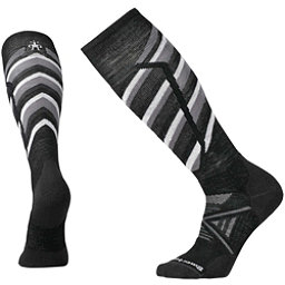 SmartWool PhD Ski Medium Pattern Ski Socks, Black, 256